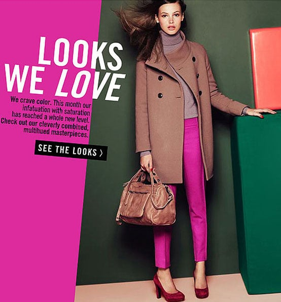 Re-Work Your Wardrobe With J.Crew's Winter 2010 Colour Combos Styling Guide