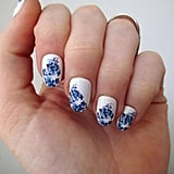 Blue Floral Decals