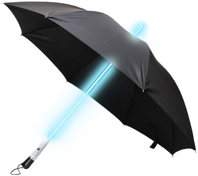 The Blade Runner Style LED Umbrella ($25) might be the only reason why you should carry a lightsaber down the street.