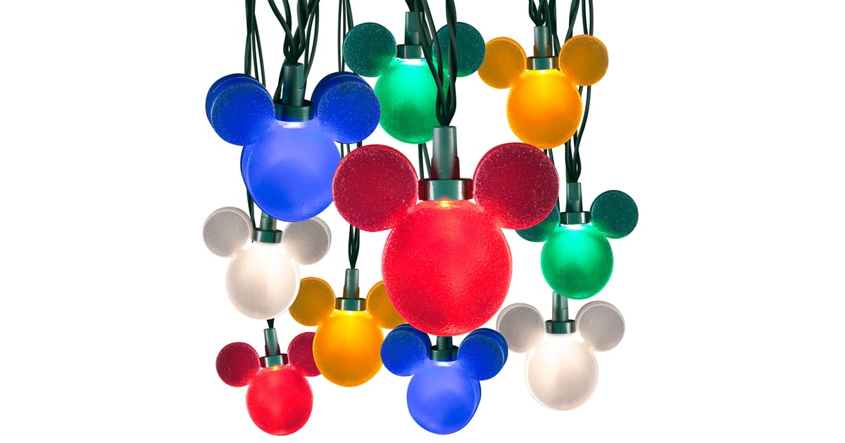 Color Whirl Mickey Light String (USD 40) Disney Christmas Lights POPSUGAR Home Photo 7