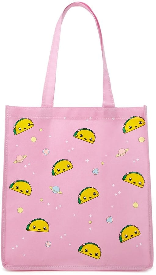 Taco and Space Shopping Tote