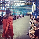 Christopher Esber held his show inside garment factory in Marrickville.