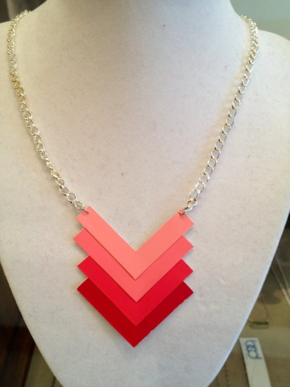 Paint Chip Necklace