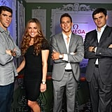 Michael Phelps, Natalie Coughlin, Chad le Clos, and Alexander Popov linked up at the Spotlight on Swimming party in London.