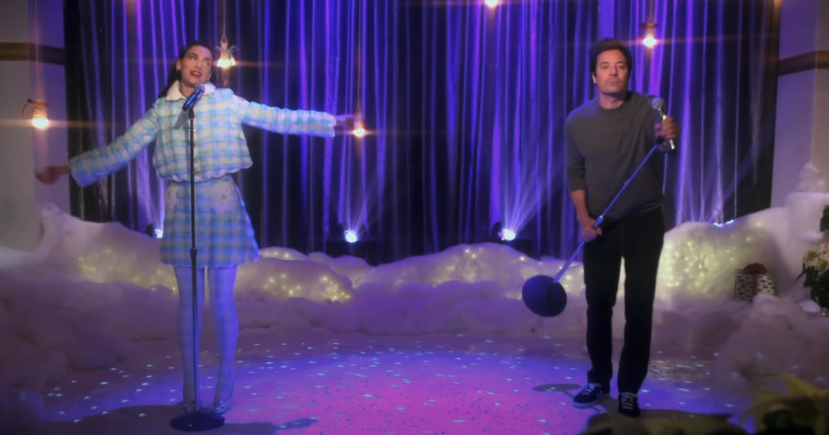 "Dua Lipa and Jimmy Fallon Sang Love Actually's ""Christmas Is All Around,"" and, Uh, It's Really Good"