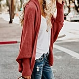 Imily Bela Batwing Cable Knitted Slouchy Cardigan Sweater