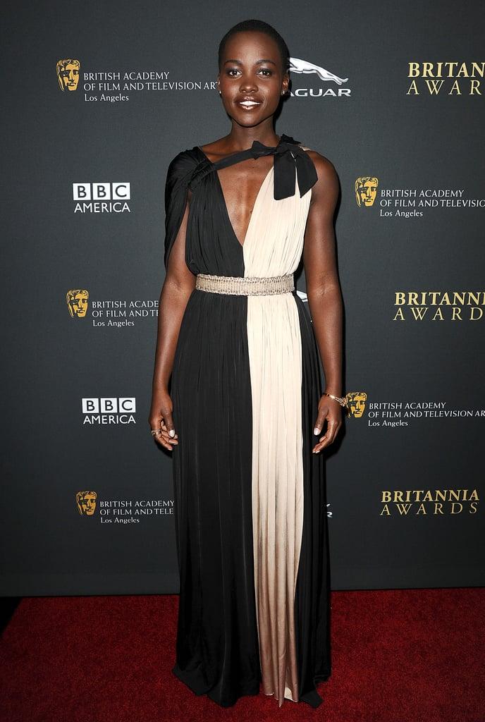 Lupita Nyong'o at the BAFTA Britannia Awards.