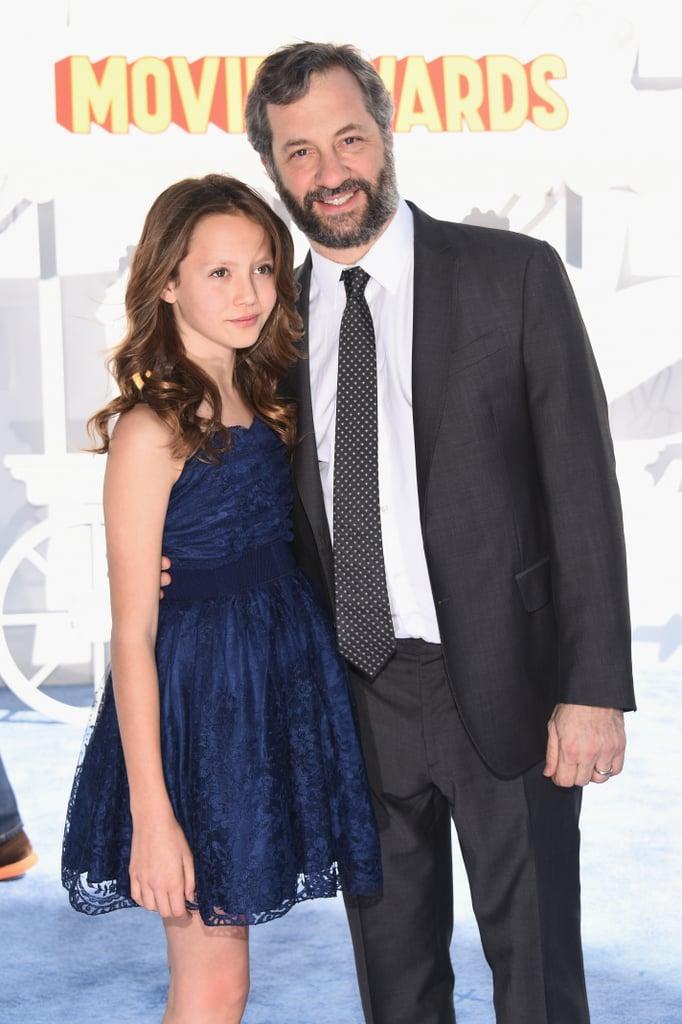 Judd and Iris Apatow at the MTV Movie Awards 2015