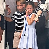 We were not only loving Princess Charlotte's blue dress, but also her funny facial expressions at the King's Cup regatta in 2019.
