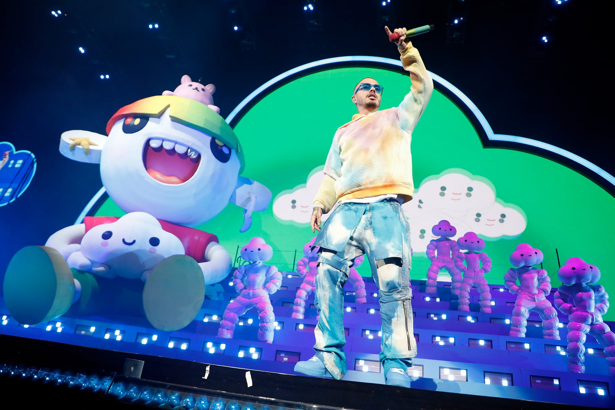 NEW YORK, NEW YORK - SEPTEMBER 29: J Balvin performs at Madison Square Garden on September 29, 2019 in New York City. (Photo by Taylor Hill/Getty Images)