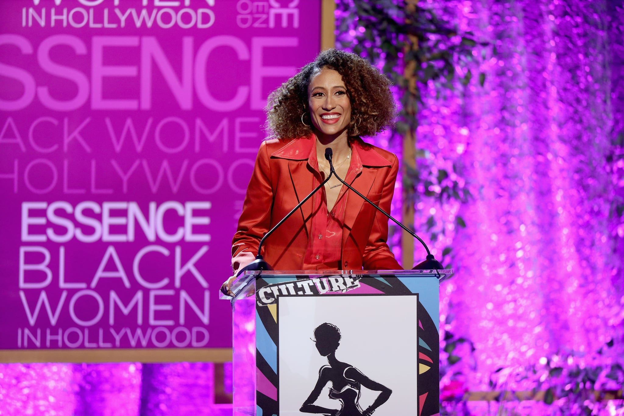 BEVERLY HILLS, CA - FEBRUARY 21:  Elaine Welteroth speaks onstage during the 2019 Essence Black Women in Hollywood Awards Luncheon at Regent Beverly Wilshire Hotel on February 21, 2019 in Los Angeles, California.  (Photo by Randy Shropshire/Getty Images for Essence)