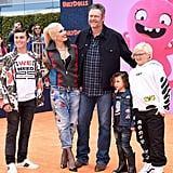 Pictured: Kingston Rossdale, Gwen Stefani, Blake Shelton, Apollo Rossdale, and Zuma Rossdale