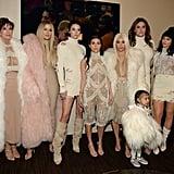 Kris Jenner, Khloé Kardashian, Kendall Jenner, Kourtney Kardashian, Kim Kardashian, North West, Caitlyn Jenner, and Kylie Jenner.