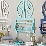 For 9-Year-Olds: Script Monogram Wall Jewelry Storage