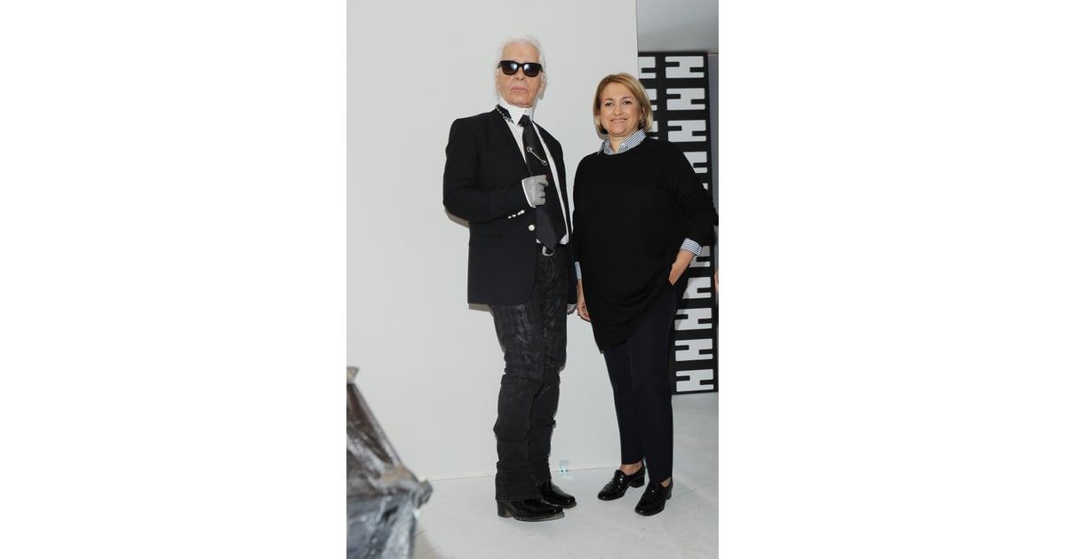 Karl Lagerfeld And Silvia Venturini Fendi At The Fendi Fall 2013 Show This Week S Best Dressed Popsugar Fashion Photo 47
