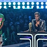 Jada Pinkett Smith and Jaden Smith at the 2019 MTV Awards