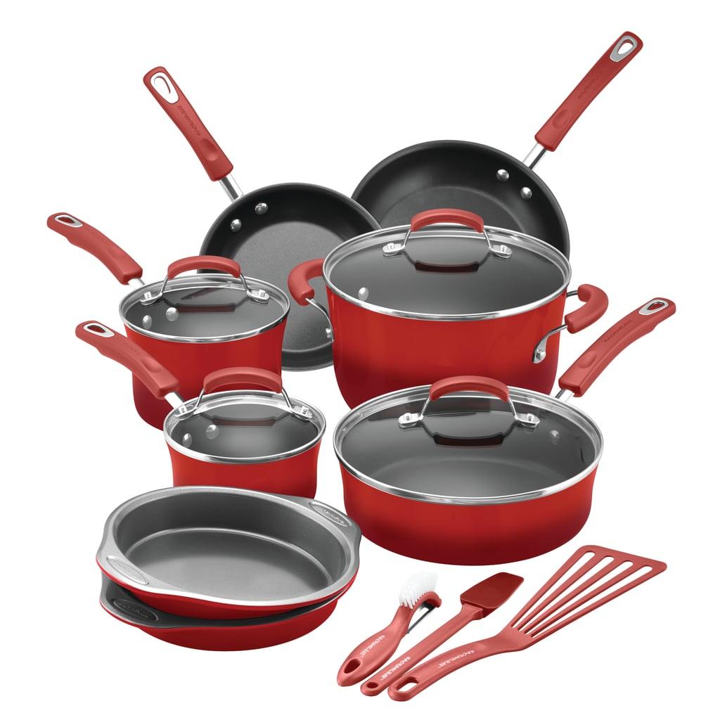 Rachael Ray 15-Piece Hard Enamel Aluminium Nonstick Cookware Set