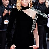 The Sculptural Sleeve of Anja Rubik's Saint Laurent Dress
