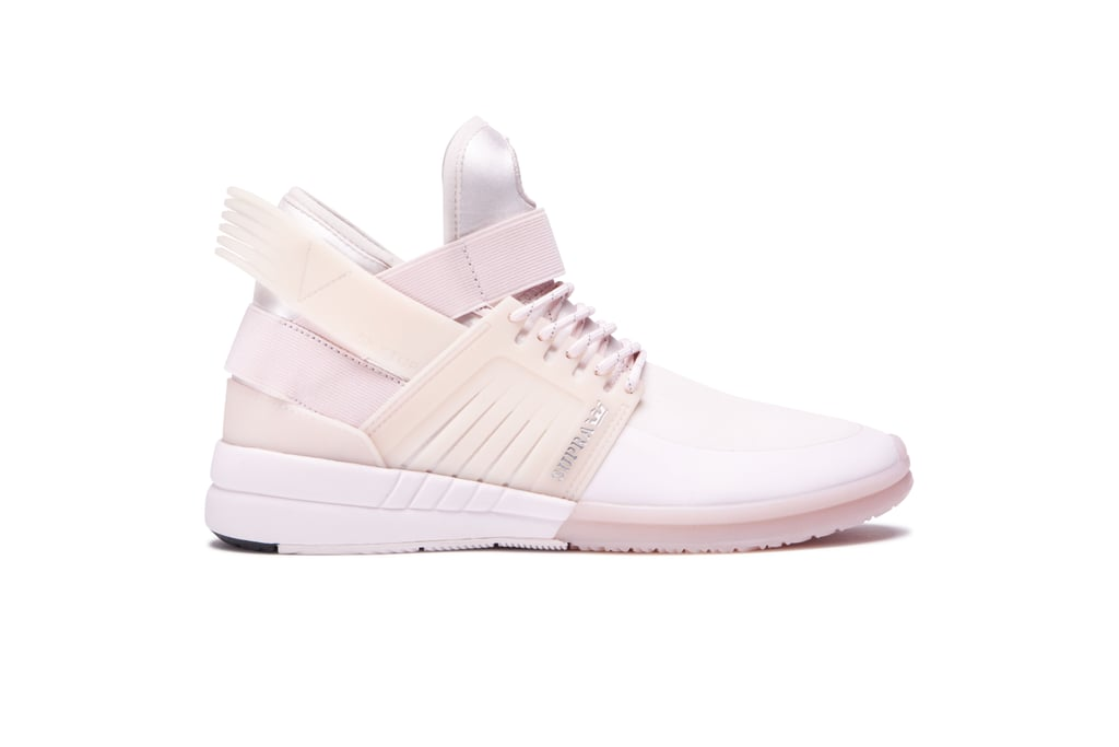 Supra's Skytop V ($125) just rolled out in a pastel pink shade perfect for the season.