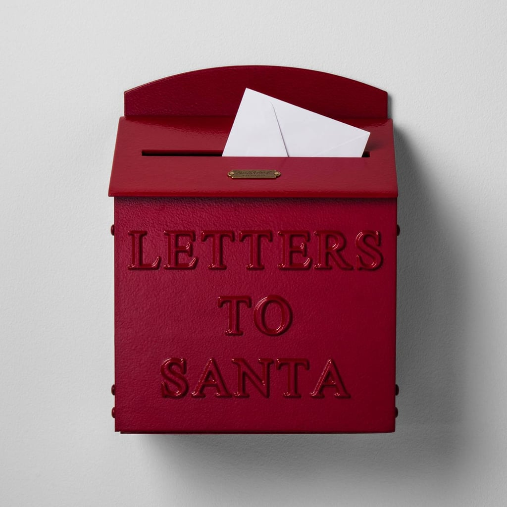 This Hearth & Hand With Magnolia Red Mailbox Letters to Santa ($40) is a sweet holiday touch.