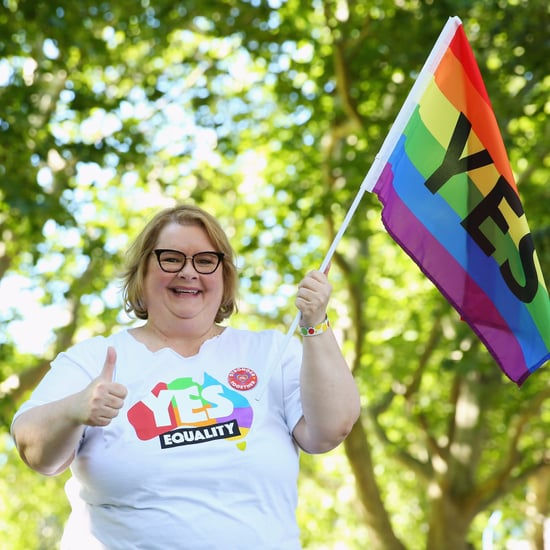 Magda Szubanski Celebrating Same-Sex Marriage Yes Result