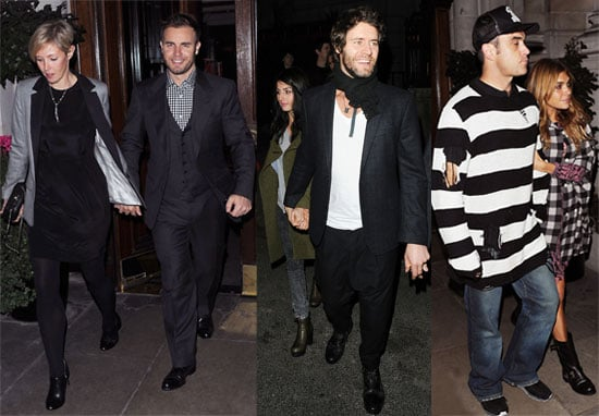 Pictures of Take That and their Wives and Girlfriends Out in London, Watch Never Forget on Children in Need 2010