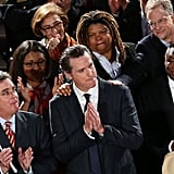 Gavin Newsom spoke at an SF rally following the news that the US Supreme Court ruled DOMA unconstitutional and Prop 8 as improperly brought to court.