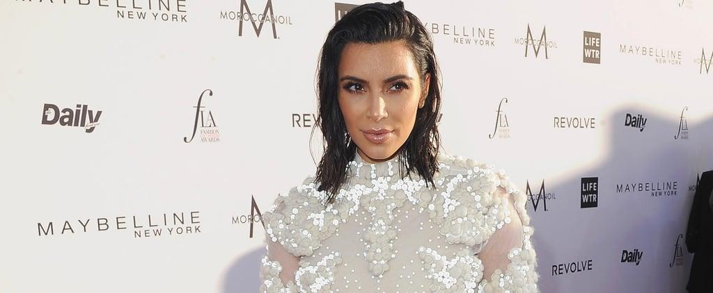 Kim Kardashian Basically Rewore Her Wedding Dress