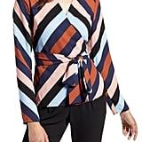 Halogen Tie Detail Wrap Blouse