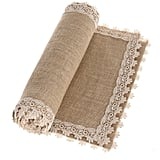 Burlap Cream Lace Table Runner ($14)