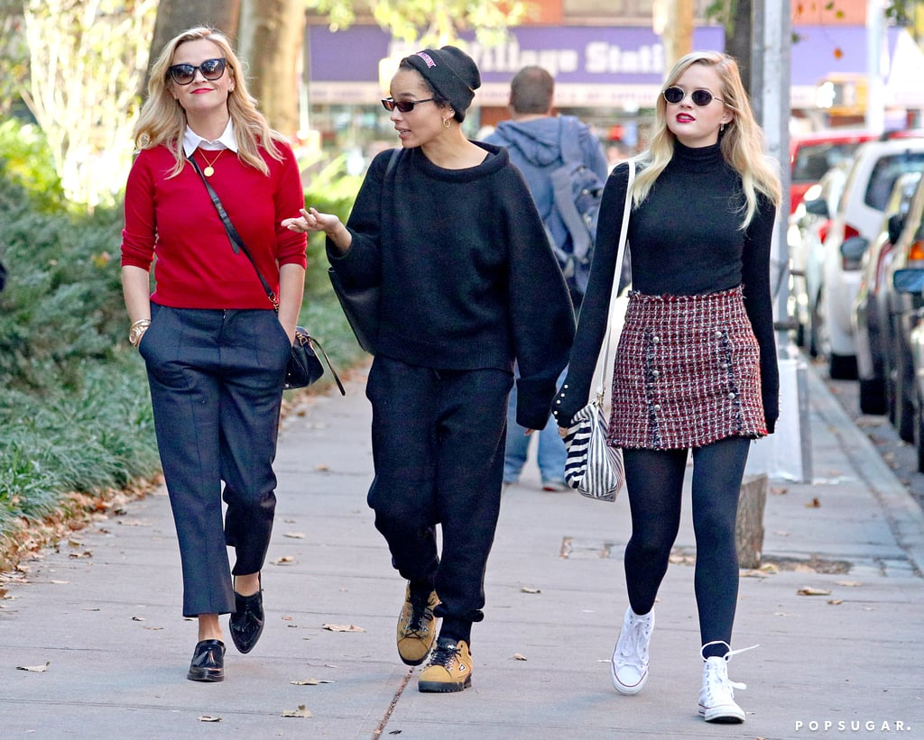 Reese Witherspoon was spotted on a delightful-looking stroll on Thursday with her 18-year-old daughter, Ava Phillippe, and her Big Little Lies costar Zoë Kravitz in NYC. Reese and Zoë seemed to be having a pretty animated conversation after grabbing lunch — maybe they were discussing season two of their hit HBO series? The night before their sweet Fall outing, Reese and Ava hit the red carpet together for the WSJ. Magazine 2017 Innovator Awards, where they both rocked little black dresses and struck the same pose for photographers.       Related:                                                                                                           34 Photos of Reese Witherspoon and Ava Phillippe That Will Make You Do a Double Take               Not long after she linked up with Reese, it was revealed that Zoë's mom, Lisa Bonet, and her stepdad, Jason Momoa, were not officially married until October. The happy news surprised many fans, who believed that the couple had been husband and wife since 2007. The wedding reportedly took place at the couple's home in Topanga, CA, and it's likely that both Zoë and her younger siblings Lola, 10, and Nakoa-Wolf, 8, were present for the intimate event.