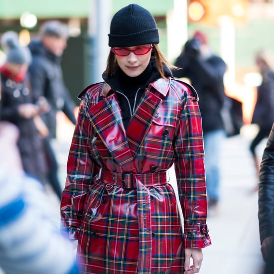 Bella Hadid's Red Burberry Coat