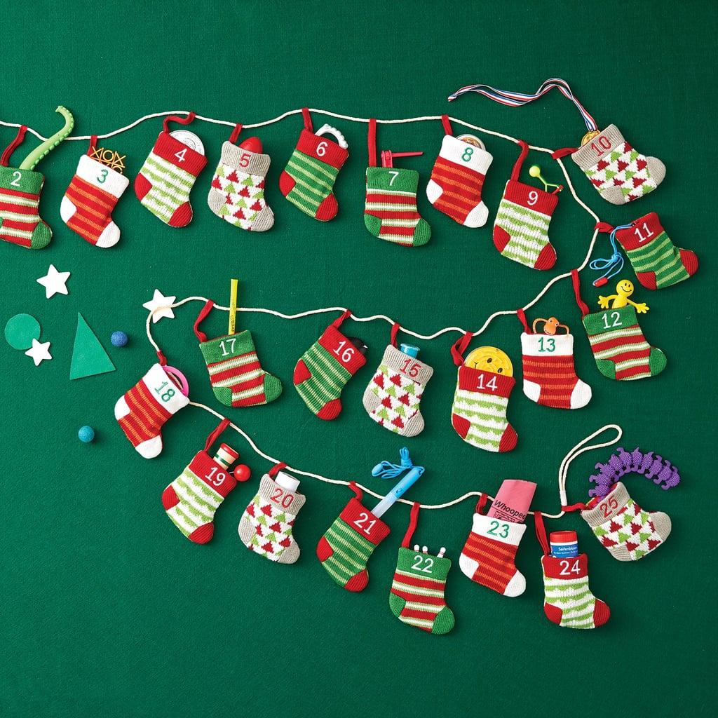 stocking advent calendar garland advent calendars for kids