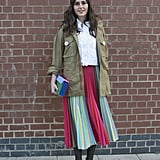 Offset Stripes With a Utility Jacket