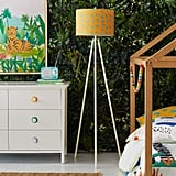 Drew Barrymore Flower Kids Jungle Tiger Shade With Marshmallow Tripod Floor Lamp