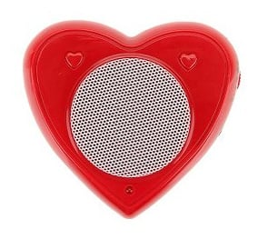 Red Heart Speaker For MP3 Players