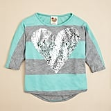 Kiddo Sequined Heart Shirt