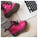 Kim Kardashian shared a snap of North West's new pink Doc Martens.