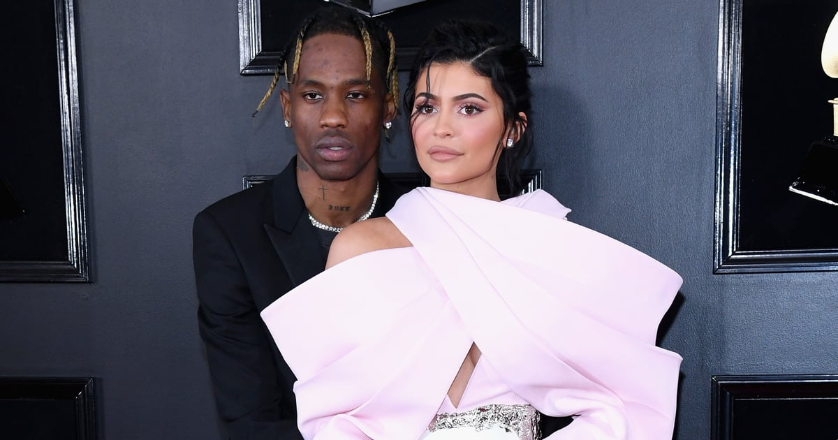 Travis Scott Is Stuck to Kylie Jenner Like Glue in Her Bubblegum Pink Grammys Outfit