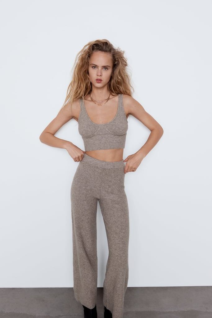 Zara Strappy Knit Top and Culottes