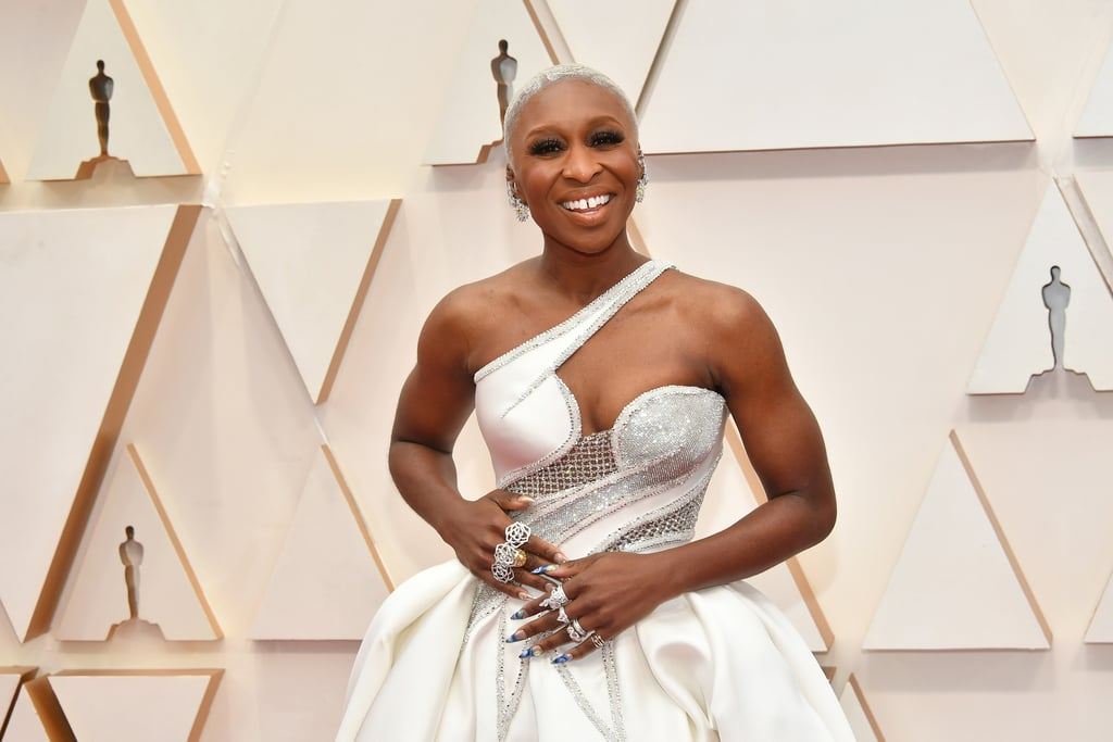 I Can't Tell Who Deserves the Oscar More — Cynthia Erivo or Her Blue French Manicure