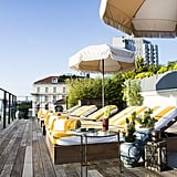During the day you can soak up some Vitamin D on the roof of the Club