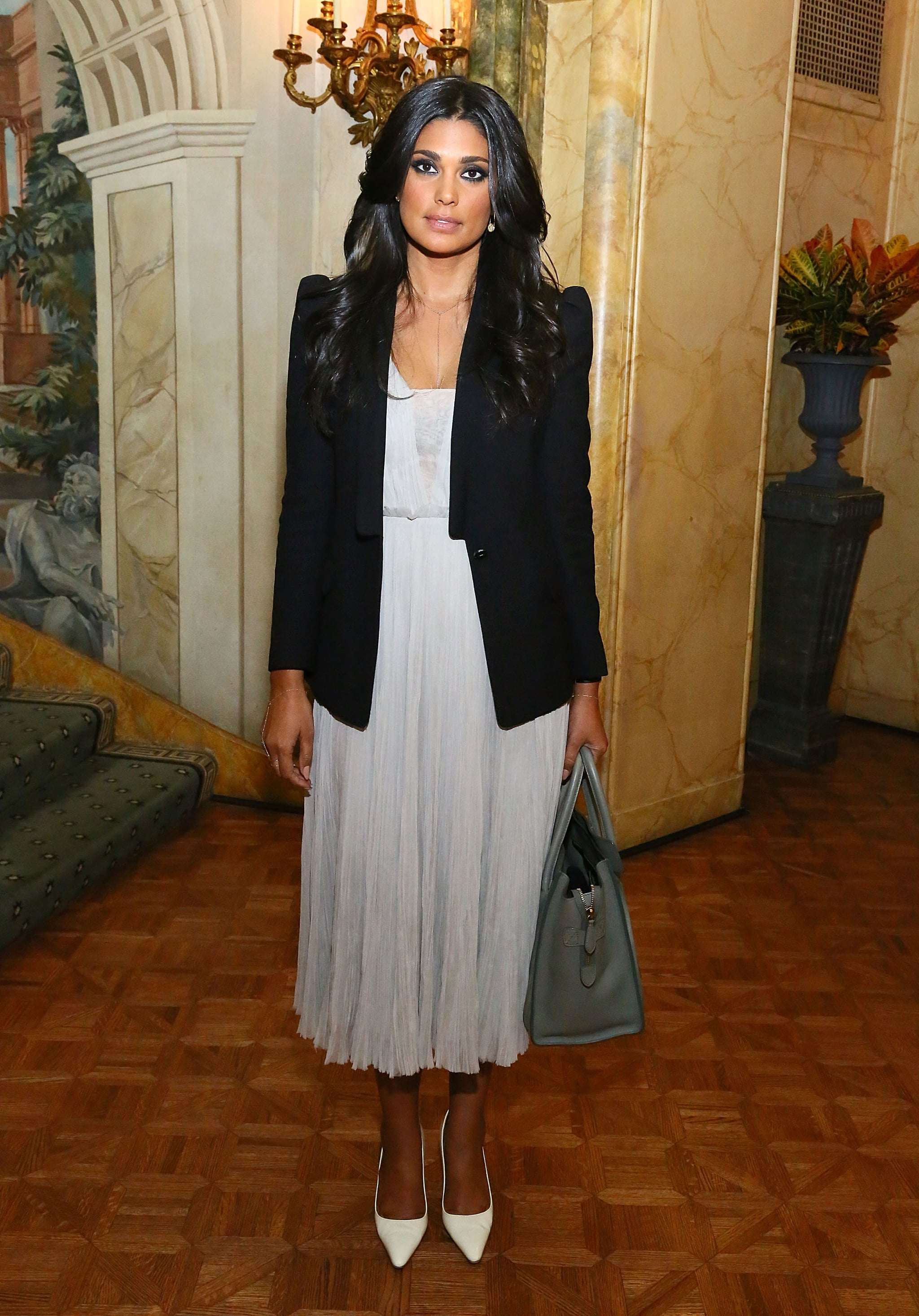 Rachel Roy joined the WWD Apparel and Retail CEO summit dinner in a layered evening look.