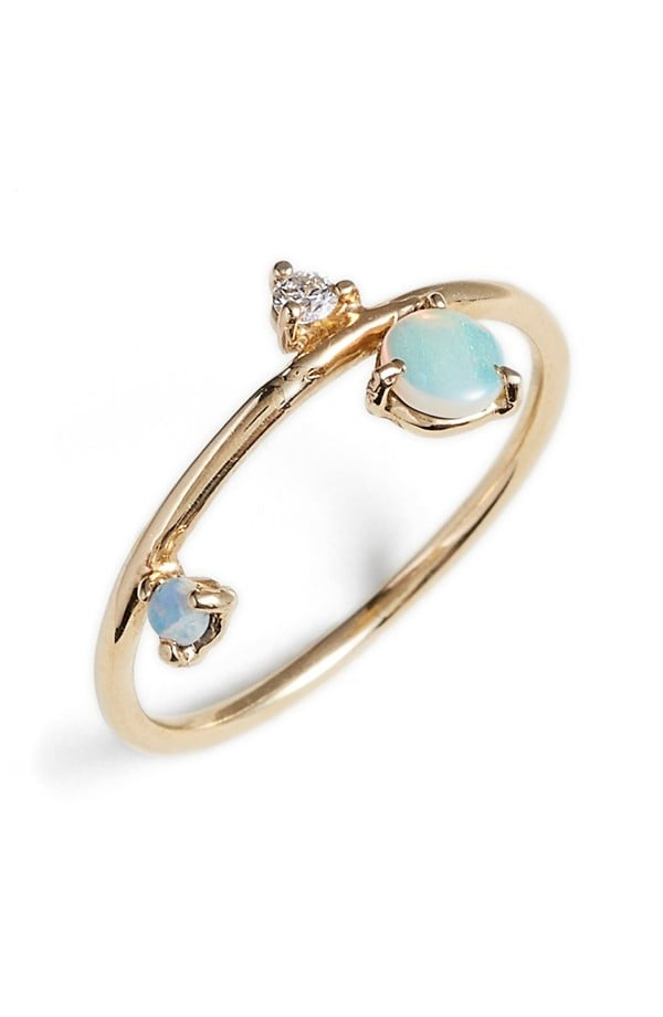 Counting Collection Three-Step Balloon Opal & Diamond Ring