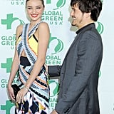 Miranda and Orlando Show PDA at a Green Pre-Oscars Bash