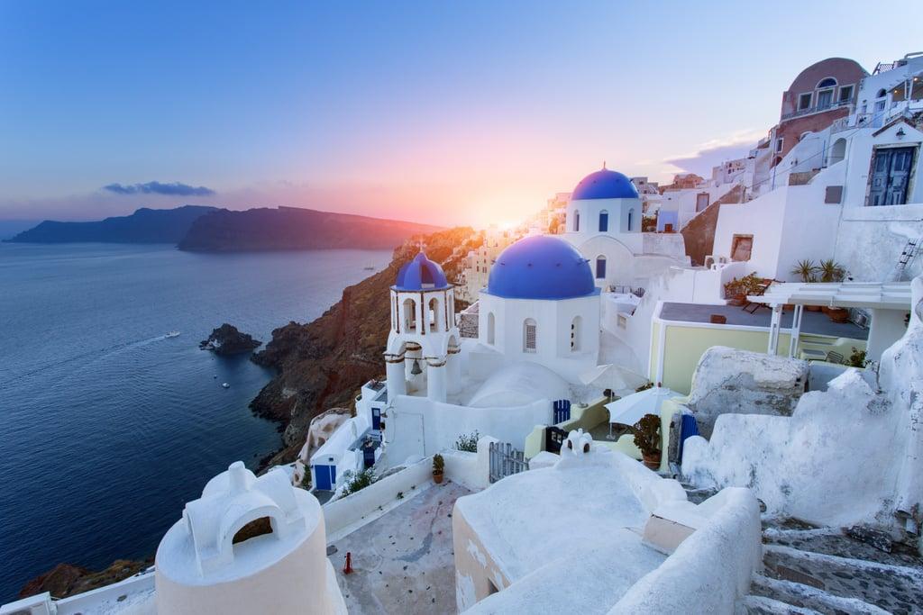 Watch the Sunset in Santorini, Greece