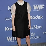 Laura Linney wore a black frock.