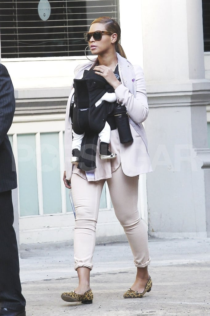 Beyonce Knowles and Blue Carter spent a day in NYC.
