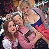Emma Watson and Lauren Santo Domingo made a Blasberg sandwich in authentic costumes. Source: Instagram user thelsd