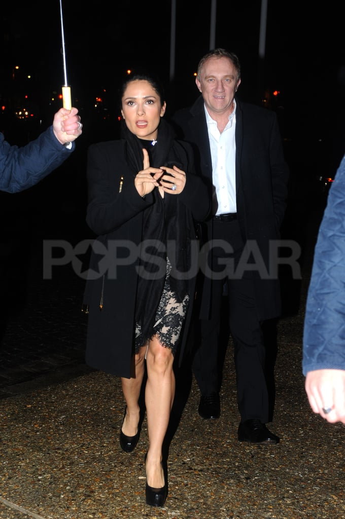 Salma Hayek and François-Henri Pinault hit the Prada afterparty together.